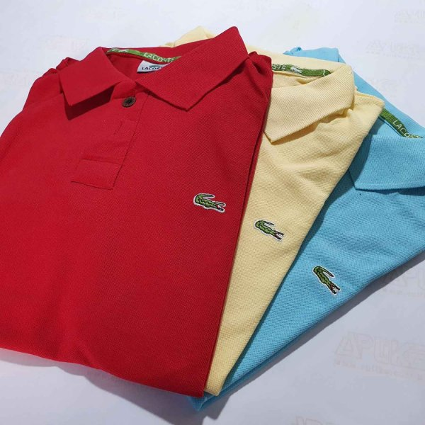 Kit 100 Camisas Polo Básica Masculina - Malha Piquet