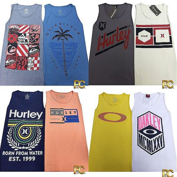 Kit 25 Camisetas Regata - 100% Alg. Fio 30.1