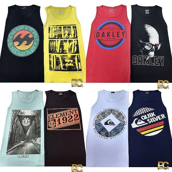 86465fce2730a Kit 50 Camisetas Regata Fio 30.1 - Polos   Cia Atacado