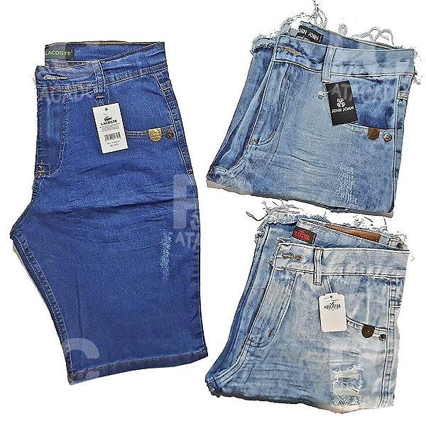 Kit 100 Bermudas Jeans Masculinas Atacado