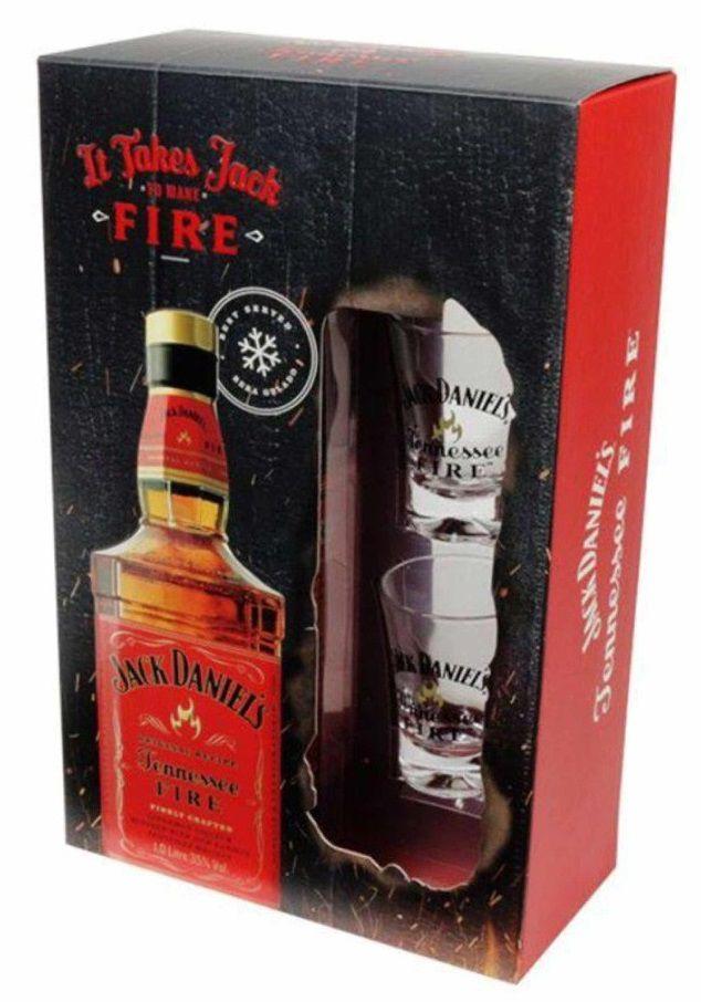Jack Daniels Fire + 2 Copos Edição Especial