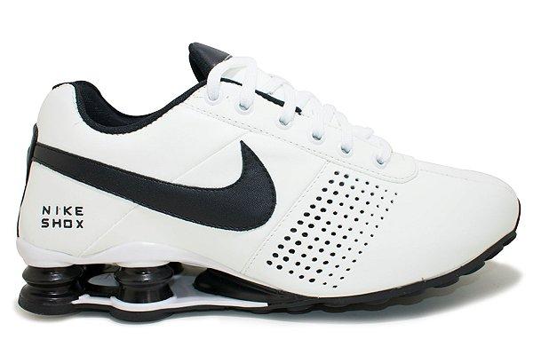 1f1fb1ef69a Tênis Nike Shox Deliver Masculino - Branco e Preto