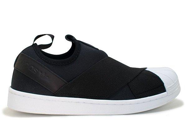 708bab913 Tênis Adidas Superstar Slip-On Feminino - Black - VibeSurf