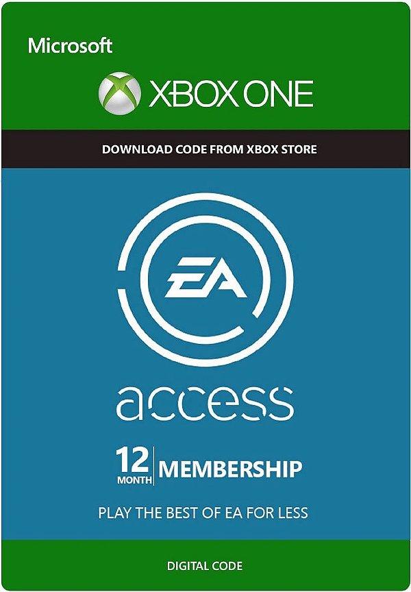 Ea Access 12 Lincença Mêses Assinatura - Xbox One - Midia Digital - Modo Online