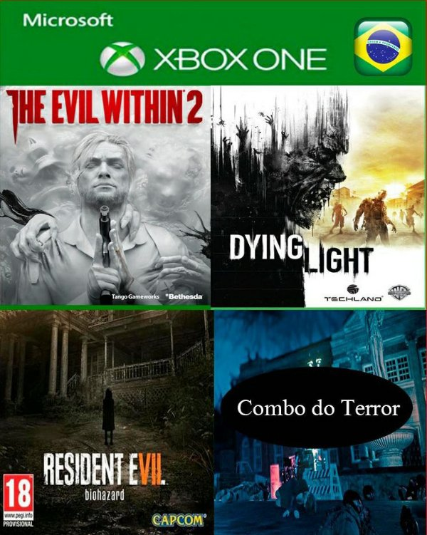Combo de Jogos - The Evil Within 2 - Residentivel 7 - Dying Light  - Promoção Offline