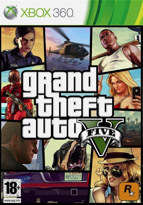 Gta V - Xbox 360 - Mídia Digital