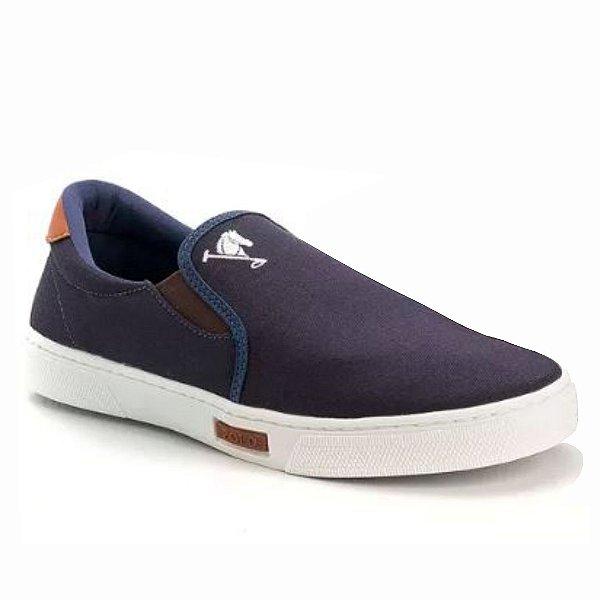 d21e9bfc5 Tenis Masculino Sapato Polo Joy Iate Com Elástico Azul - Vancouver Joe
