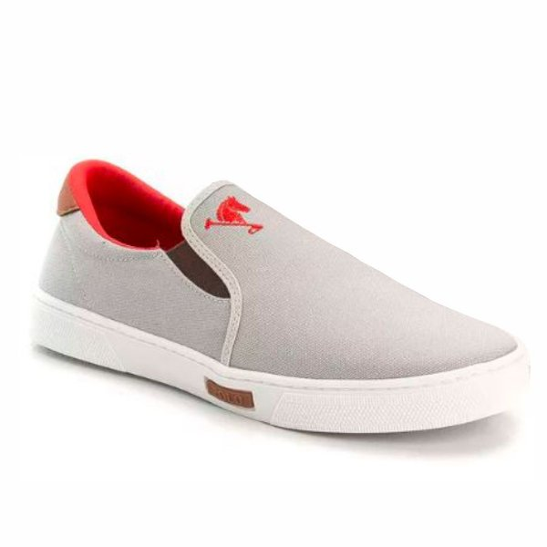d8681c751 Tenis Masculino Sapato Polo Joy Iate Com Elástico Cinza - Vancouver Joe