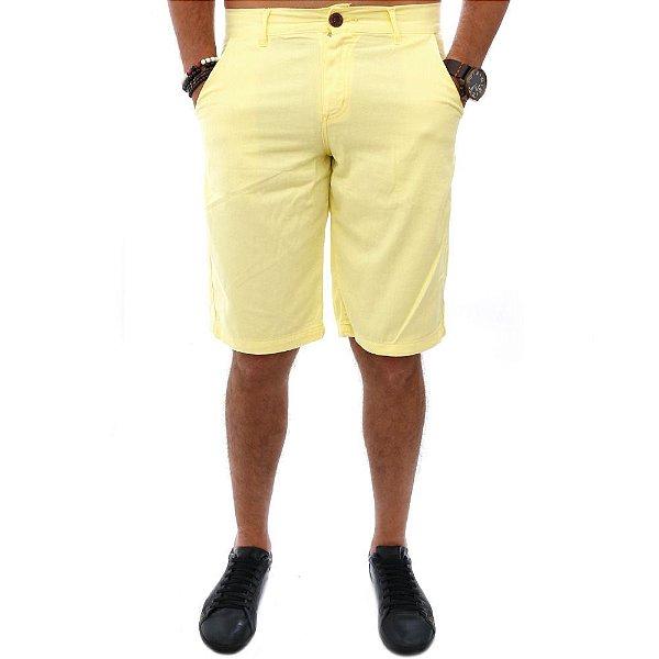 Bermuda de Sarja Masculina Amarela