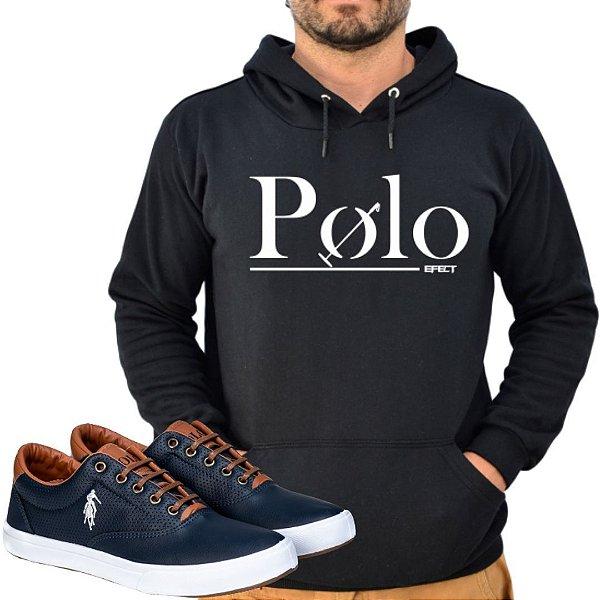 Kit 1 Tênis Polo Way Marinho com 1 Moletom Polo Efect Preto