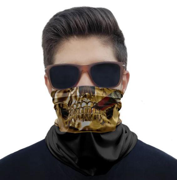 Máscara Bandana Caveira Charuto