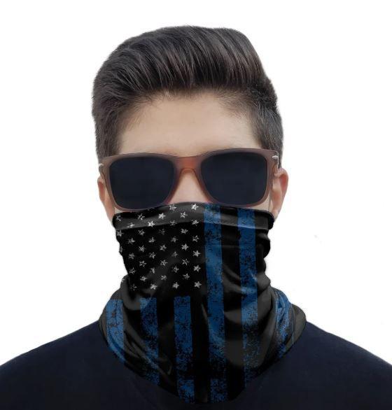 Máscara Bandana America Black Blue