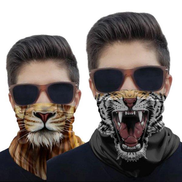 Kit 2 Máscaras Tigre e Leão