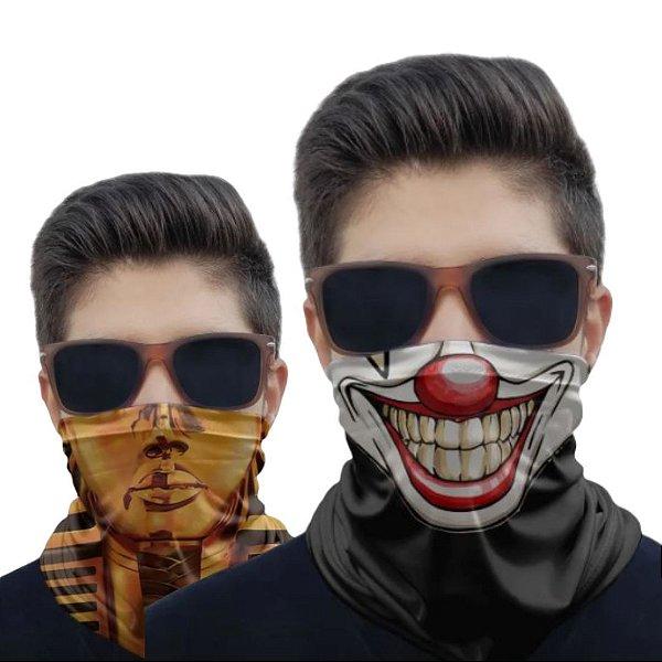 Kit 2 Máscaras Palhaço e Esfinge