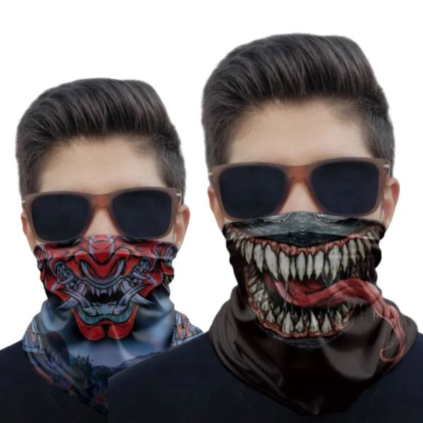 Kit 2 Máscaras Venom e Samurai 2