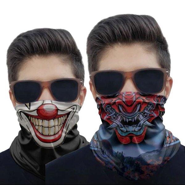 Kit 2 Máscaras Samurai 2 e Palhaço