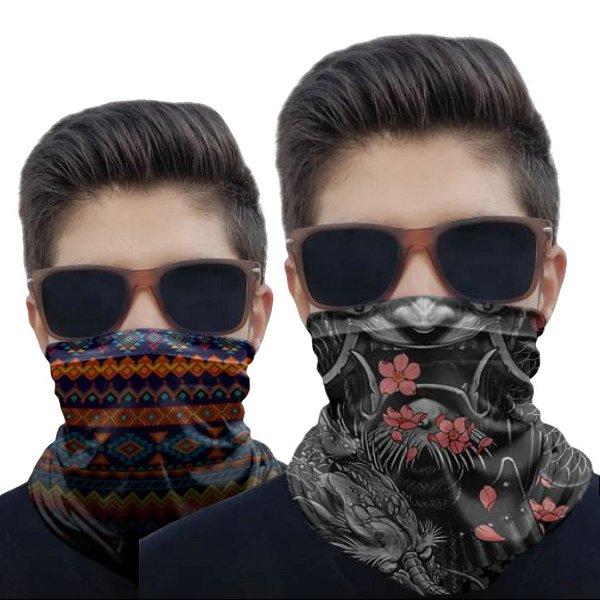 Kit 2 Máscaras Samurai e Tribal