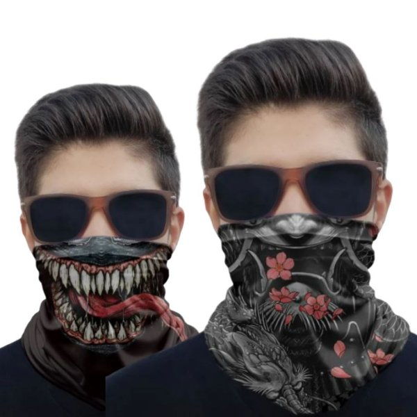Kit 2 Máscaras Samurai e Venom