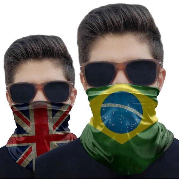 Kit 2 Máscaras Brasil e Inglaterra