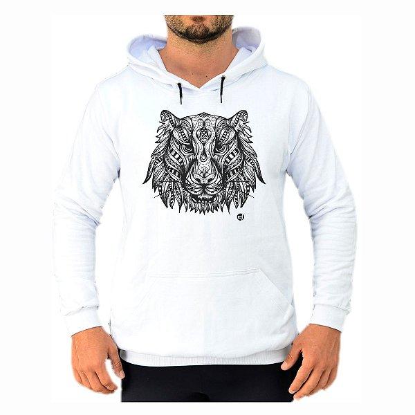 Moletom Branco Tigre Maori EFECT