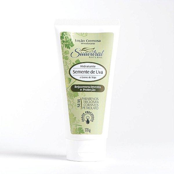 Loção Cremosa desodorante Semente de Uva e Germe de Trigo 170g