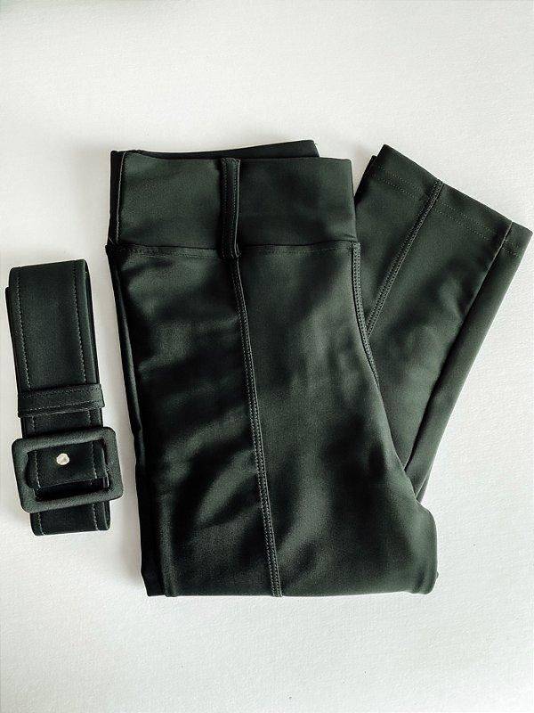 Calça Prada Cinto Verde Militar