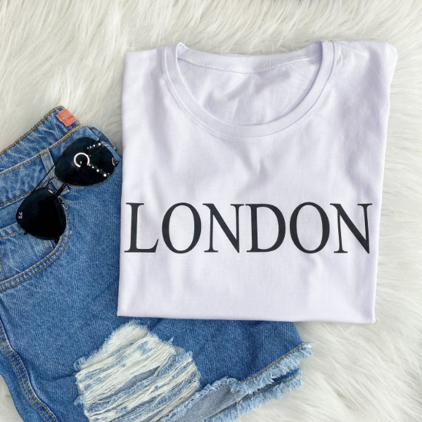 T-Shirt London Branca