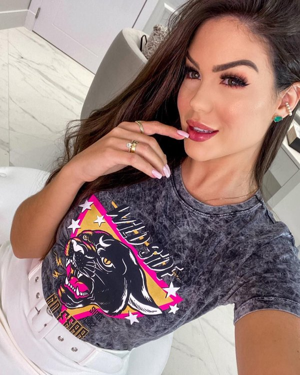 T-Shirt Wild Side Preta Marmorizada