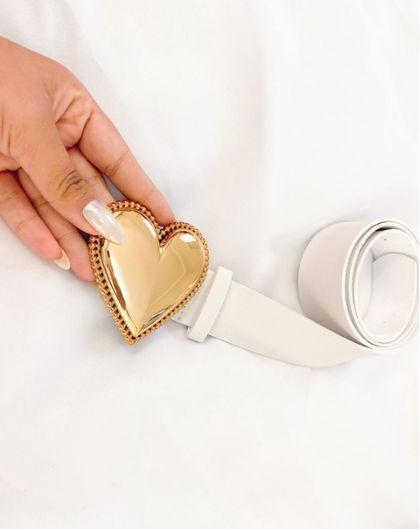 Cinto Coração Branco