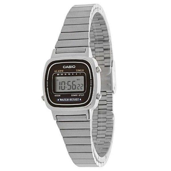 f4939bfe69340 Relógio Casio Digital Vintage Prata Feminino - Relojoaria e Ótica Santos