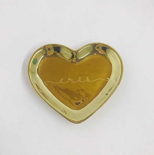 Porta Joias Formato Coração Ouro