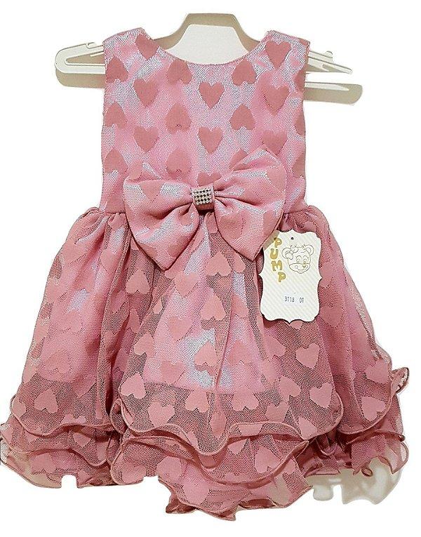 Vestido Infantil de Festa com Bolero Rose - Pump