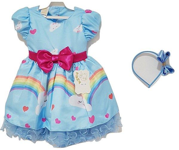 Vestido Infantil Chuva de Amor e Tiara - Pump