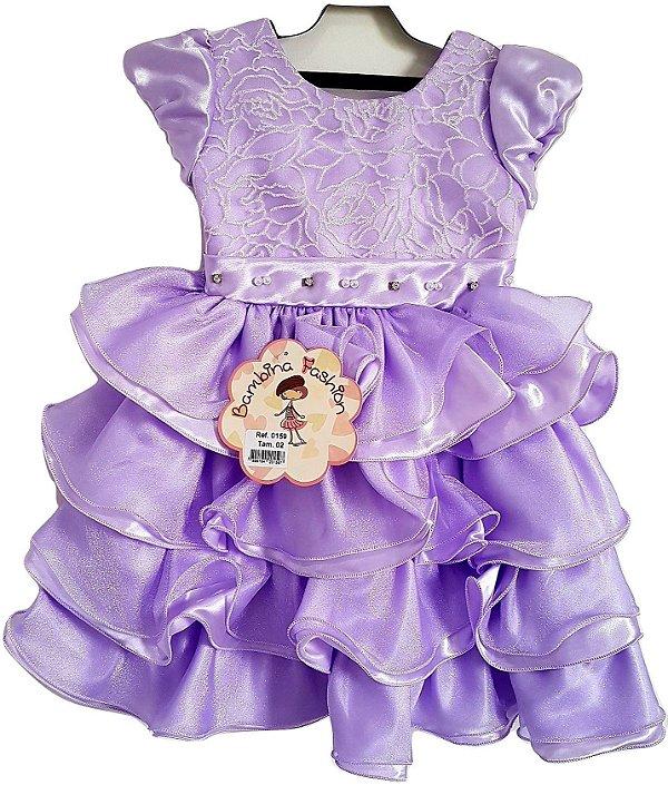 Vestido Infantil Festa Princesa Sofia - Bambina Fashion