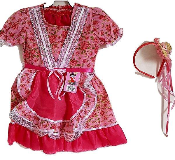 Vestido Infantil Festa Junina Rosa - Tata