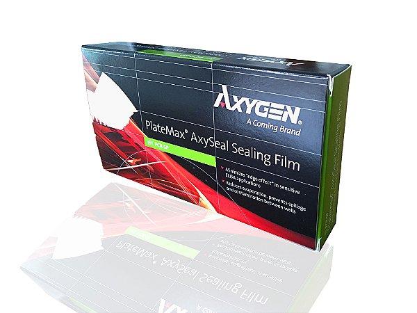 Filme selador em poliéster para vedação de microplacas, pacote com 100 unidades, mod.: PCR-SP-DSY (Axygen)