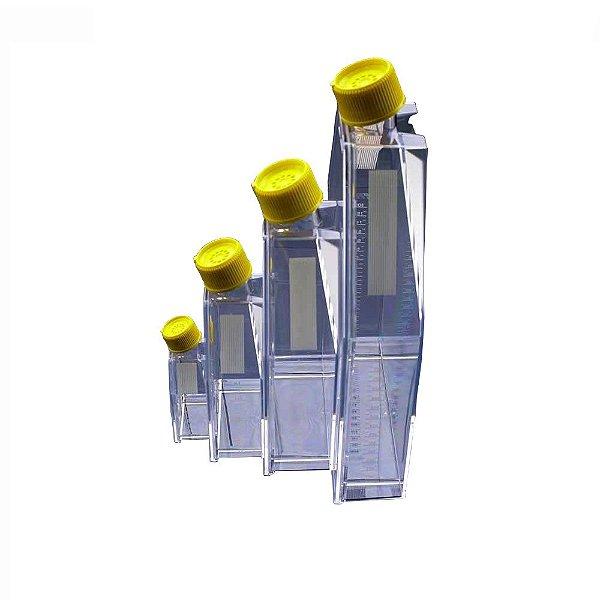 Frasco para cultivo celular, PS, sem filtro, 65 mL (75 cm²), pacote com 5 unidades, mod.: 90075 (TPP)