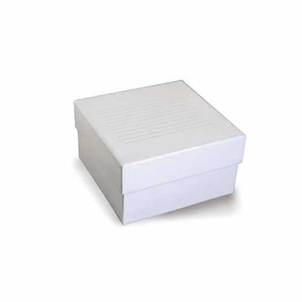 Caixa de armazenamento em fibra de papelão para 64 microtubos de 3 mL a 5 mL, mod.: K30-0643 (Kasvi)