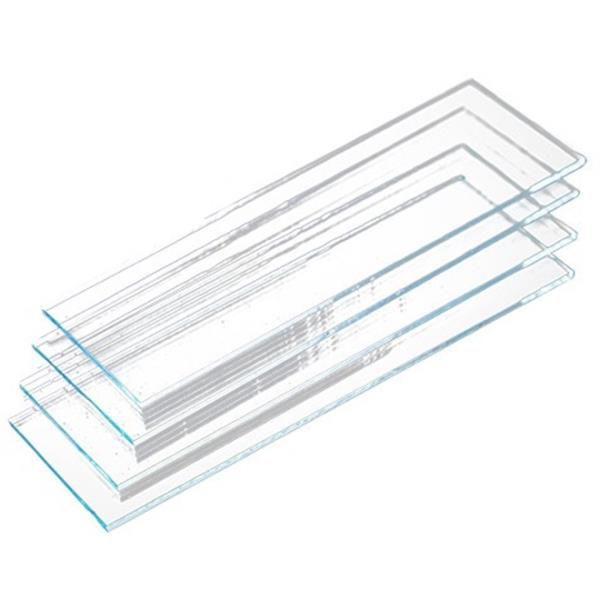 Lâmina para microscopia, 26x76mm, ponta lisa, não lapidada, caixa 50 unidades, mod.: 7102 (Precision)