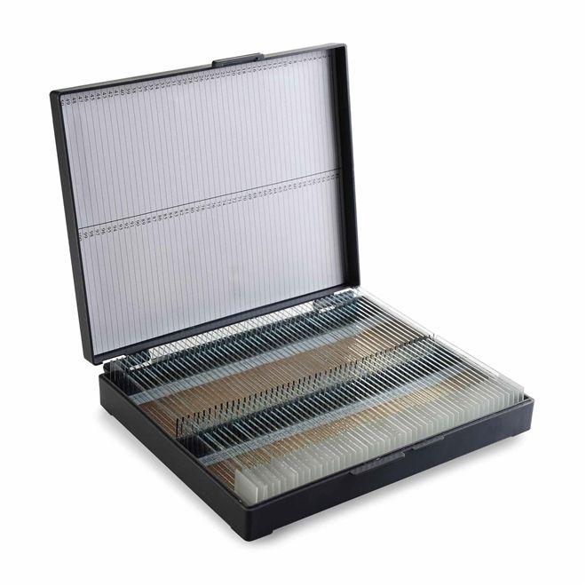 Caixa plastica porta 25 lâminas, trava pressão e numeradas para identificação, mod.: 2706 (Cralplast)