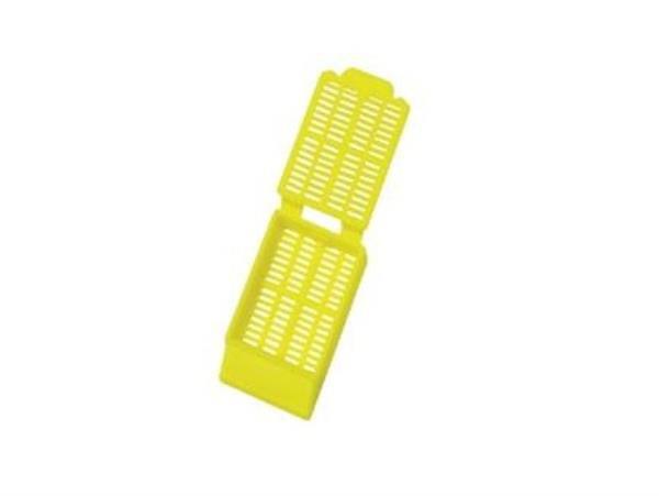 Cassete para biopsia, amarelo, 27,85 x 38,50 x 6,95 mm, pacote com 500 unidades, mod.: 2922 (Cralplast)