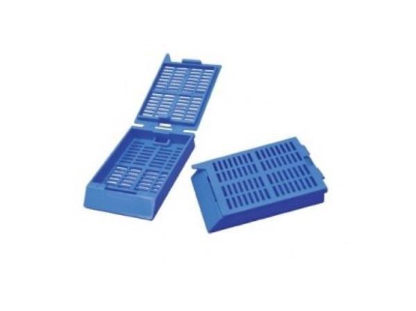 Cassete para biopsia, azul, pacote com 500 unidades, mod.: 2924 (Cralplast)