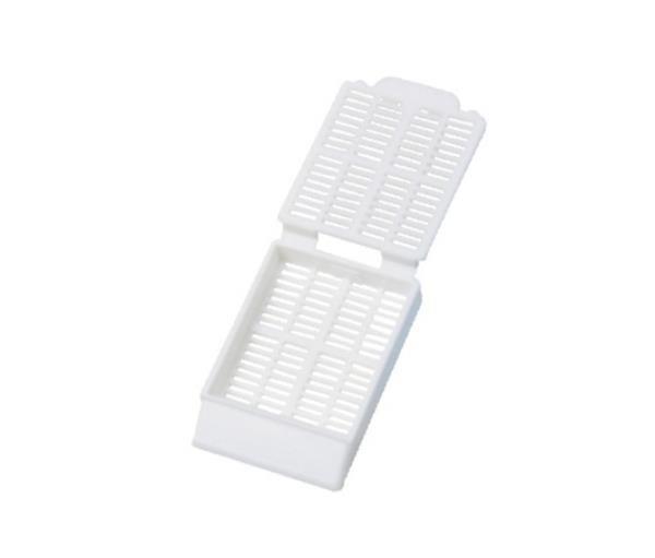 Cassete para biopsia (automação)branco, rack com 75 unidades, caixa com 1.500 unidades, mod.: 4306NM (Cralplast)