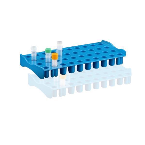 Estação de trabalho, capacidade para 40 tubos de criogenia de até 5 mL, azul, unidade, mod.: ET40B (Bionaky)