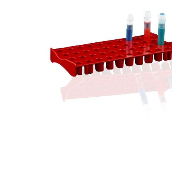 Estação de trabalho, capacidade para 40 tubos de criogenia de até 5 mL, vermelho, unidade, mod.: ET40R (Bionaky)