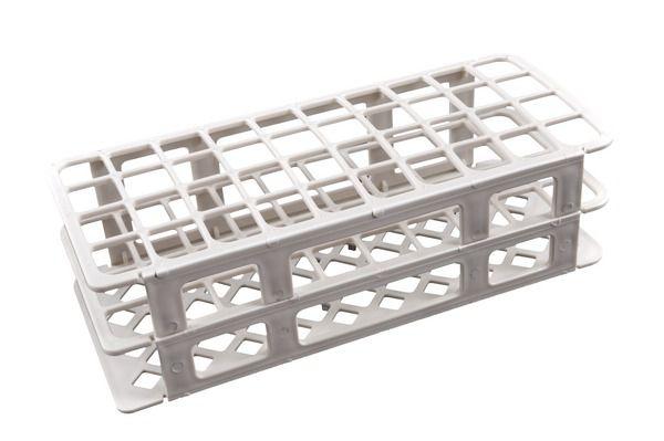 Estante tipo grade, PP, 40 furos para tubo de 20 mm, branca, unidade, mod.: 187082 (Cralplast)