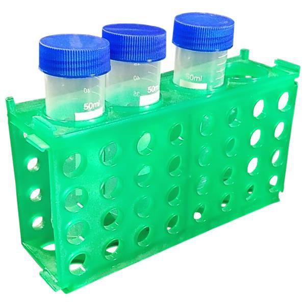 Estante 4 faces, retangular, verde, autoclavável, mod.: CUBOG (Cralplast)
