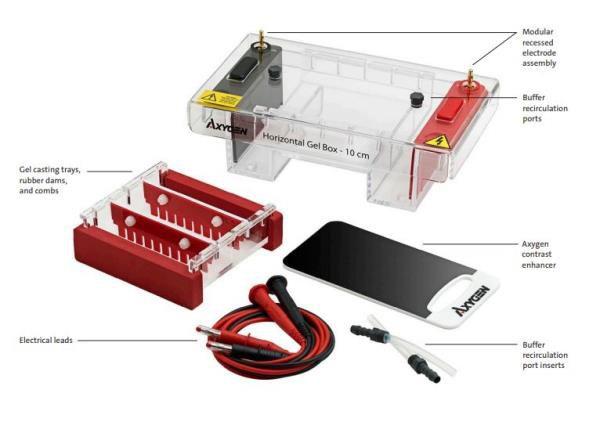 Cuba para eletroforese horizontal, tamanho de 20 x 20 cm, mod.: HGB-20 (Axygen)