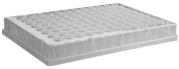 Microplaca de PCR 96 poços, borda completa, pacote com 10 unidades, mod.: PCR-96-FS-C-DSY (Axygen)