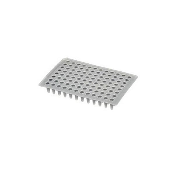 Microplaca de PCR 96 poços, 0,2 mL, sem borda, caixa com 100 unidades, mod.: PCR-96-LP-FLT-C (Axygen)